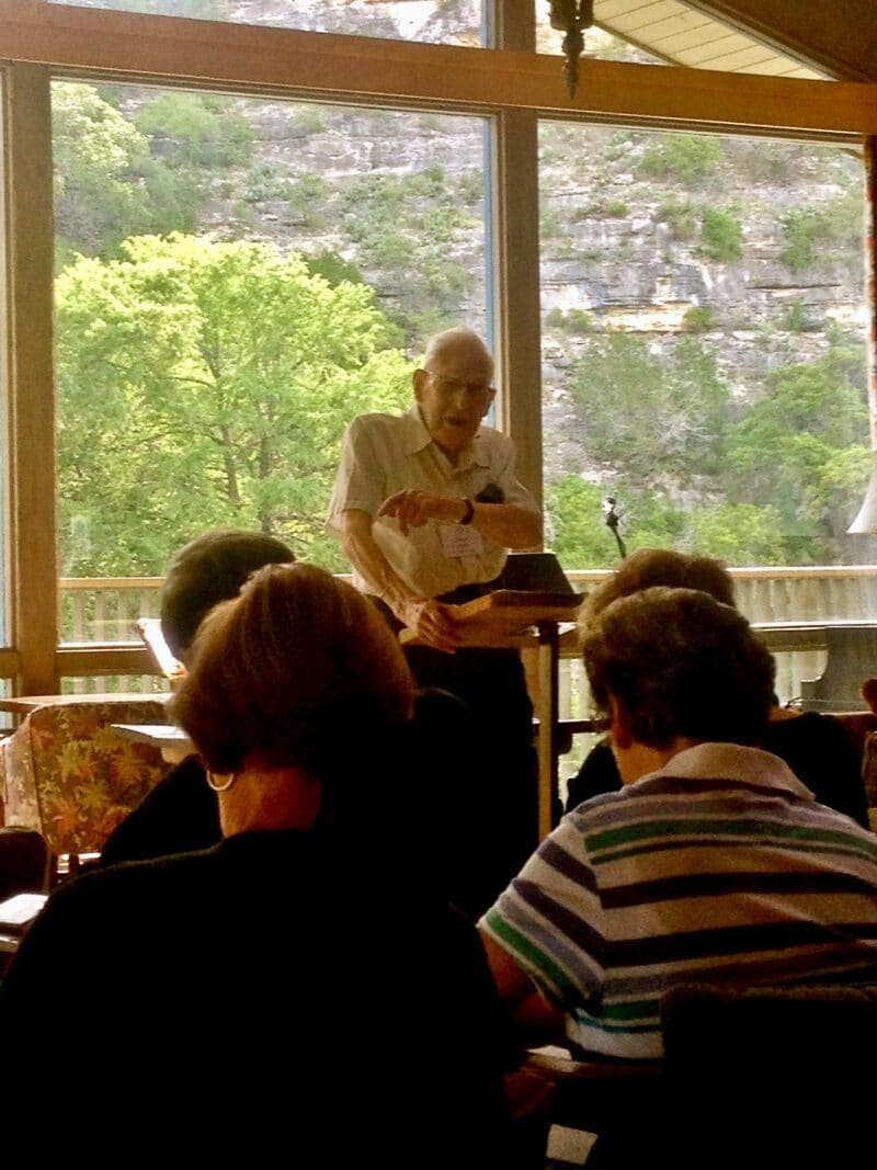 J.I Packer teaching at Laity Lodge
